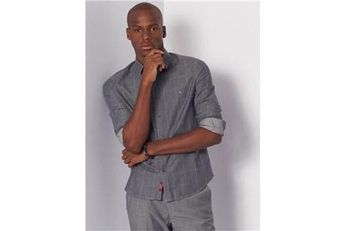 Camisa Super Slim Jeanswear Xadrez - Cinza - GG