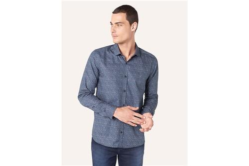 Camisa Super Slim Menswear Garden - Petróleo - P