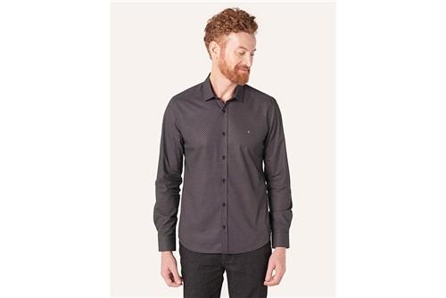 Camisa Super Slim Menswear Pirâmide - Preto - P