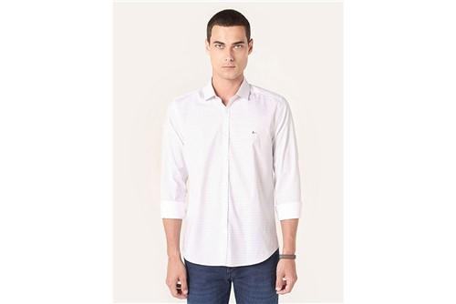 Camisa Super Slim Menswear Pontilhado - Branco - P