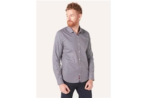Camisa Super Slim Menswear Shapes - Marinho - P