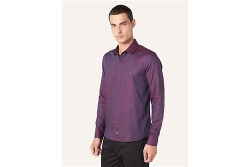 Camisa Super Slim Night Changeant - Roxo - P
