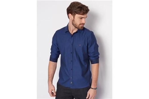 Camisa Super Slim Night Fio 70 - Azul - P