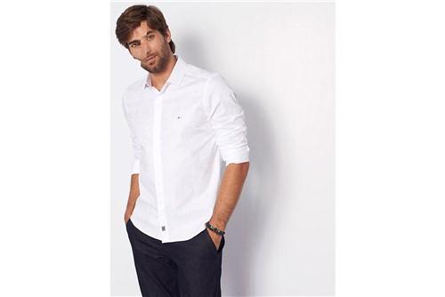Camisa Super Slim Night Jacquard - Branco - XGG