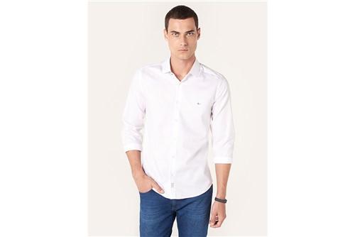 Camisa Super Slim Night Jacquard Fio 70 - Branco - M