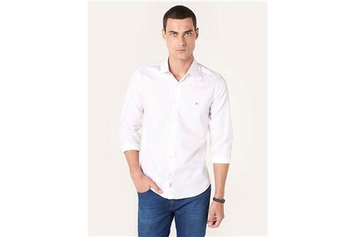 Camisa Super Slim Night Jacquard Fio 70 - Branco - P