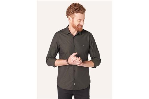 Camisa Super Slim Night Jacquard - Verde - M