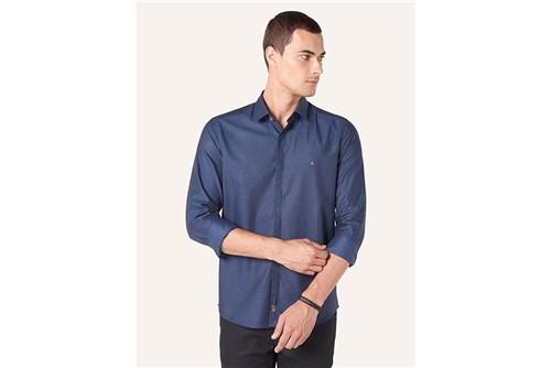 Camisa Super Slim Night Maquineta - Azul - P