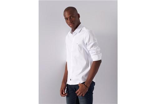 Camisa Super Slim Night Maquineta - Branco - P