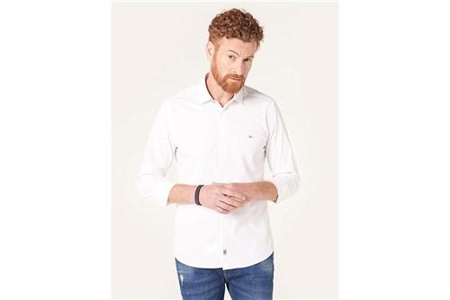 Camisa Super Slim Night Pontilhado - Branco - P