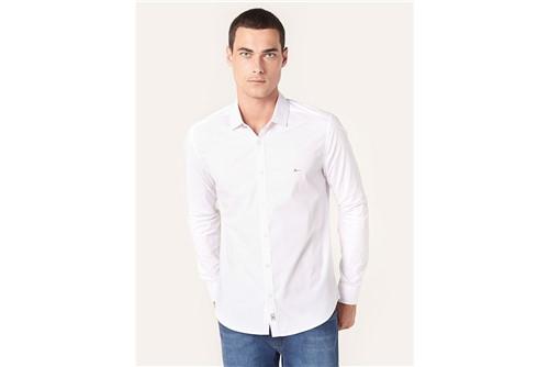 Camisa Super Slim Night Refletivo Gola - Branco - P