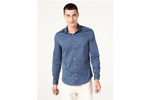 Camisa Super Slim Night Traços - Azul - G