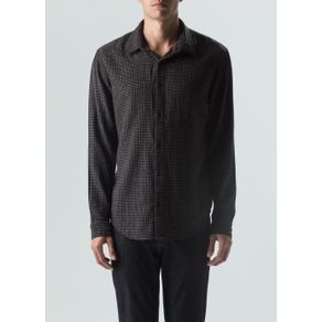 Camisa Thin Line Ml-Preto/Branco - P