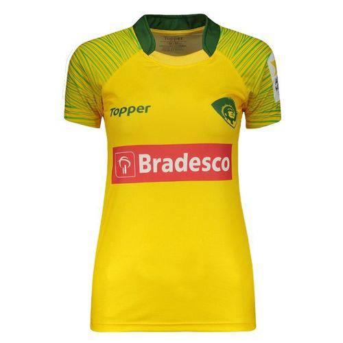 Camisa Topper Rugby Brasil Home 2017 Feminina
