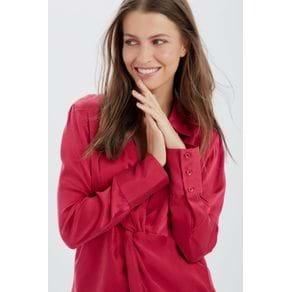 Camisa Torcida Ml Rosa Cherry - 34