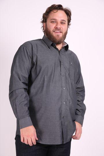 Camisa Tricoline Plus Size Preto 6
