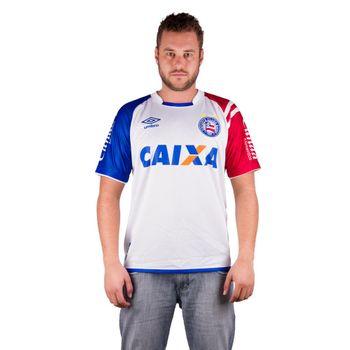 Camisa Umbro Bahia Of.1 2017 Branco/Azul/Vermelho Gg