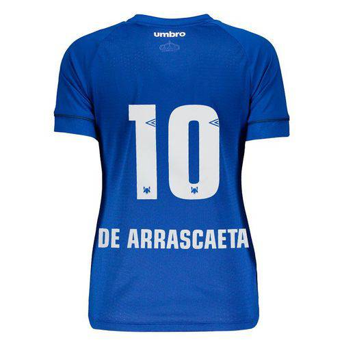 Camisa Umbro Cruzeiro I 2018 10 de Arrascaeta Feminina