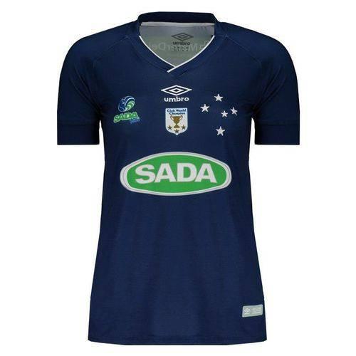Camisa Umbro Cruzeiro Vôlei I 2017 Feminina Azul