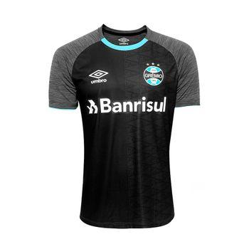 Camisa Umbro Grêmio Aquecimento 2018 Grafite/Preto/Celeste G