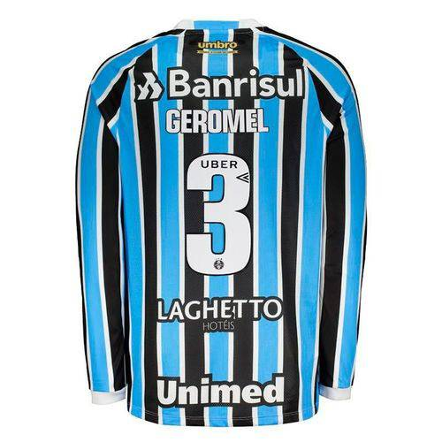 Camisa Umbro Grêmio I 2018 3 Geromel Manga Longa - Umbro - Umbro