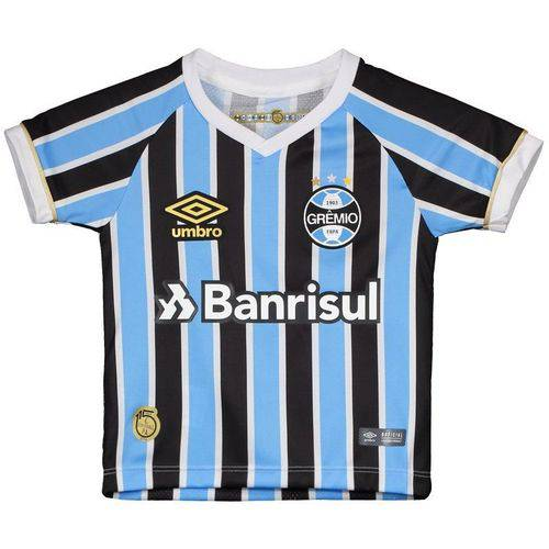 Camisa Umbro Grêmio I 2018 Infantil