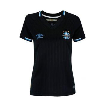 Camisa Umbro Grêmio Of. 3 2018 Preto/Branco/Azul G