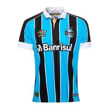 Camisa Umbro Grêmio Of.1 2019 Preto/Branco/Azul G