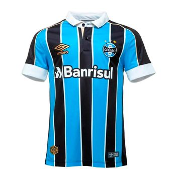Camisa Umbro Juv. Grêmio Of.1 2019 Preto/Branco/Azul 12