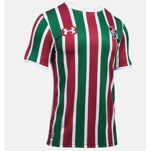 Camisa Under Armour Fluminense Uniforme 1 17/18 S/ Nº - Verde e Vinho - P
