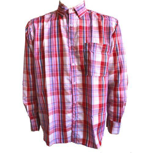 Camisa Xadrez Adulto Festa Junina Caipira Pink