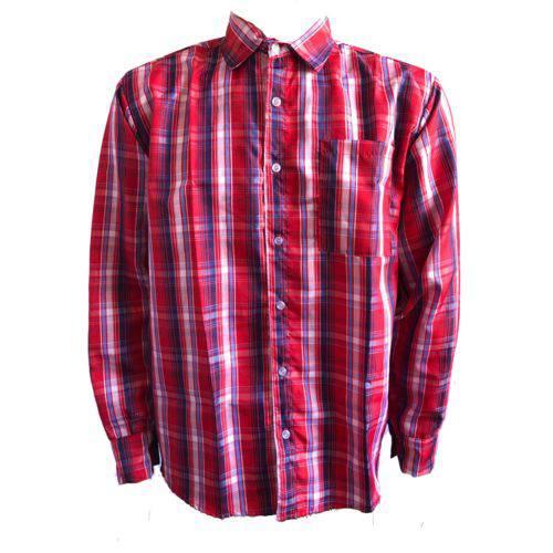 Camisa Xadrez Adulto Festa Junina Caipira Vermelho
