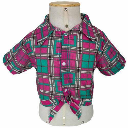 Camisa Xadrez de Festa Junina e Caipira Infantil Feminina - EG - 12