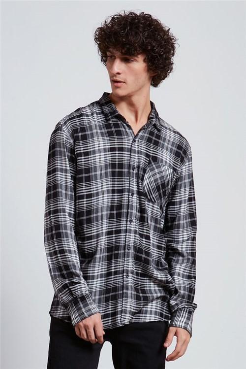 Camisa Xadrez Velan Preto G