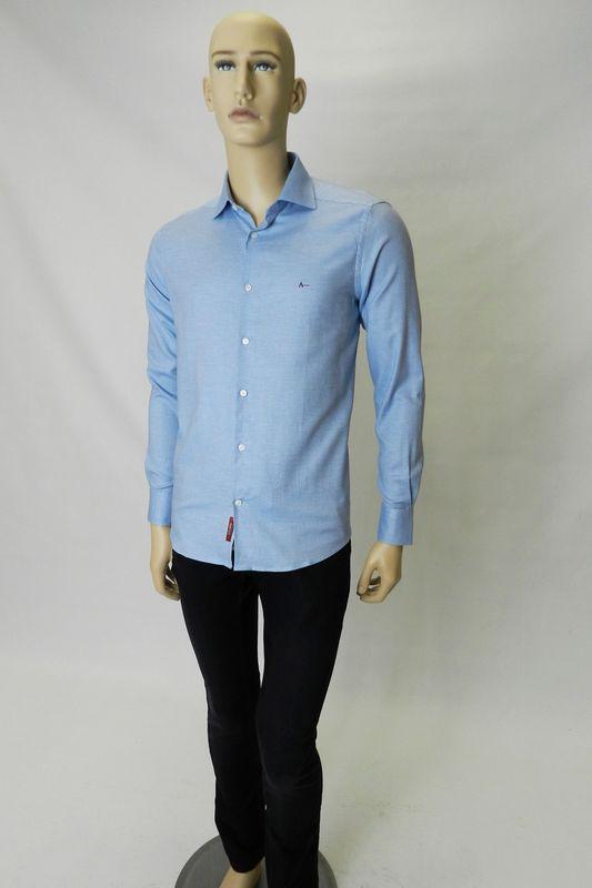 Camisa Z Aramis Menswear Maquinetada Azul Tam. M