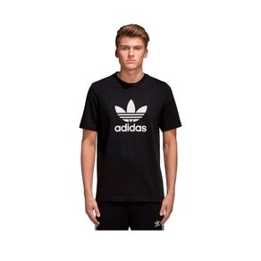 Camiseta Adidas Trefoil Preto Homem G