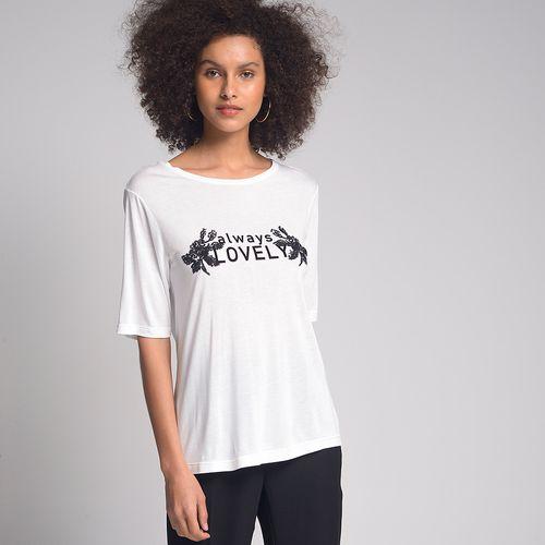 Camiseta Always Lovel Off-White - M