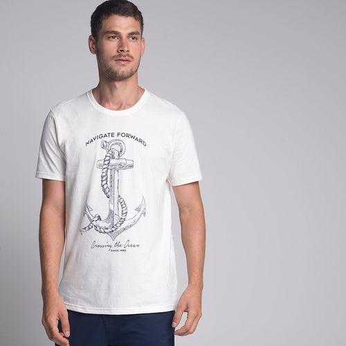 Camiseta Âncora Corda Off White - P