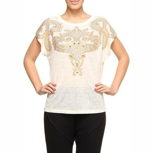 Camiseta Andrea Bogosian com HotFix Off White G