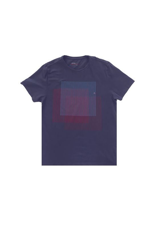 Camiseta Aramis Cubos Paralelos Azul Tam. P