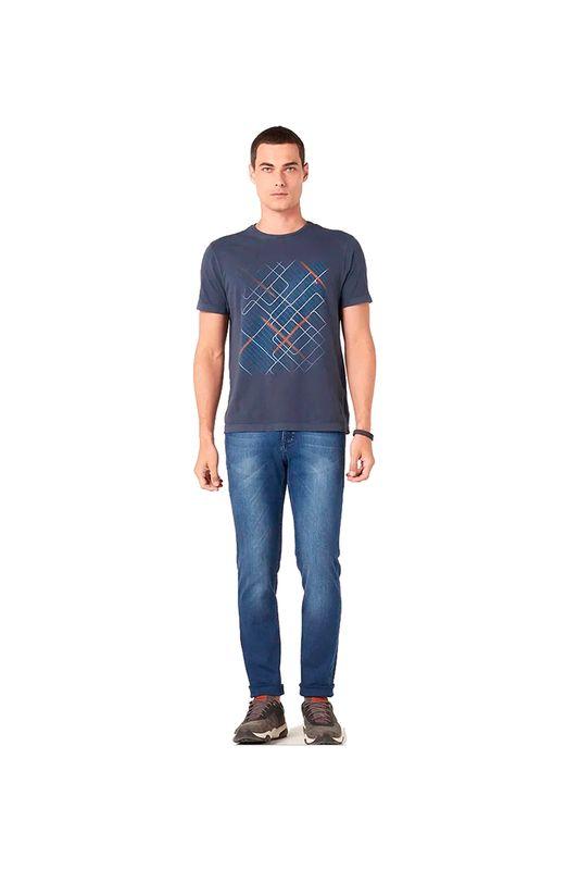 Camiseta Aramis Linhas Geométricas Azul Tam. P