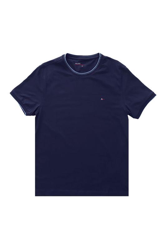 Camiseta Aramis Listra na Gola Azul Tam. P