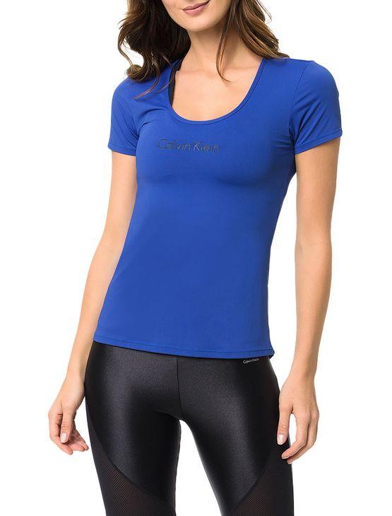 Camiseta Athletic Calvin Klein Swimwear Estampa Ck Azul Royal - P
