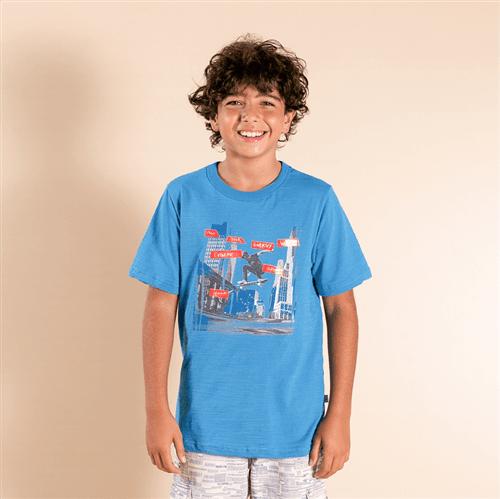 Camiseta Avulso Azul Forte/10 e 12