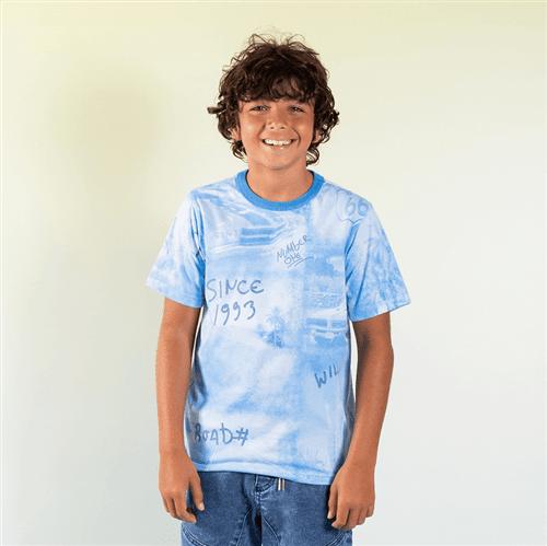 Camiseta Avulso Bco e Azul/10 e 12