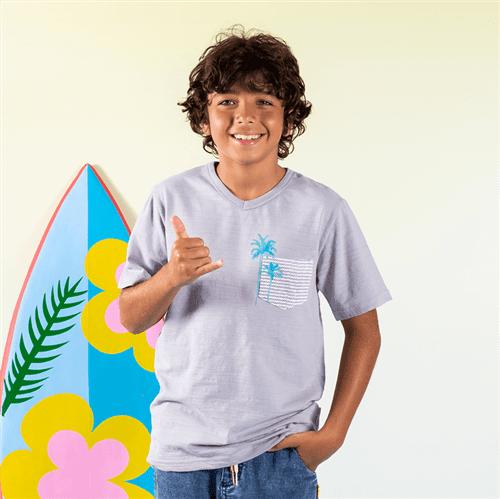 Camiseta Avulso Cinza/10 e 12