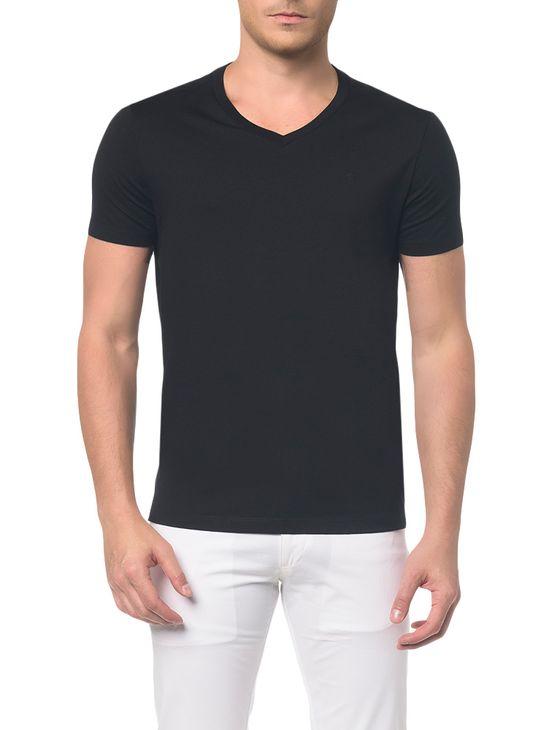 Camiseta Basica Liquid Bordado Ck - Preto - P