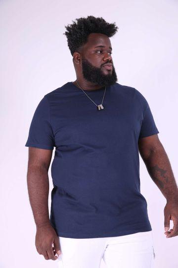 Camiseta Básica Plus Size Azul Marinho P