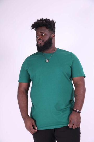Camiseta Básica Plus Size Verde G