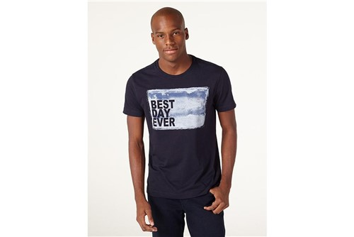 Camiseta Best Day Ever - Marinho - M